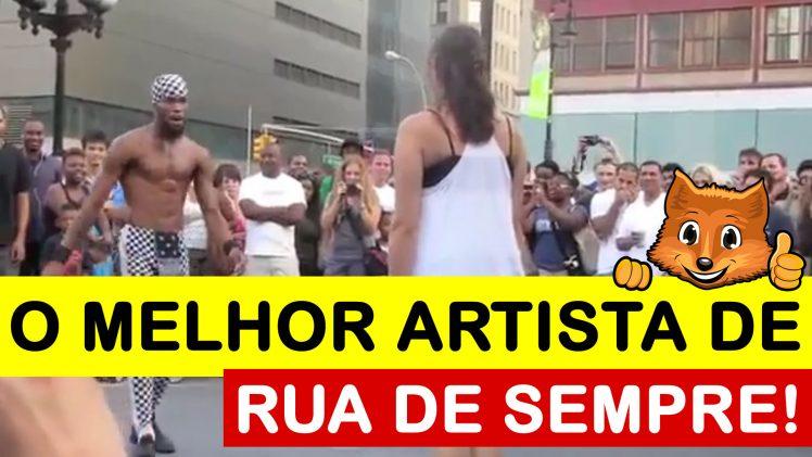 Um Artista de rua que envergonha qualquer profissional