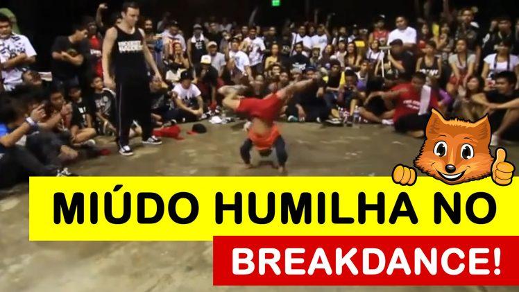 Miúdo Desafia Dançarino de Breakdance e Humilha o Grandalhão!