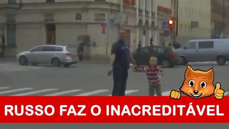 O que faz um russo quando alguém não respeita a sua passagem na passadeira