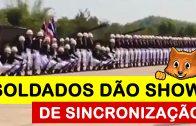 Soldados tailandeses dão show de sincronização brutal