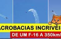 As incríveis acrobacias aéreas de um F-16 a mais de 350 km/h na Lisbon Air Race Championship